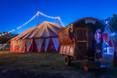 The Flynn Creek Circus performs in Calistoga